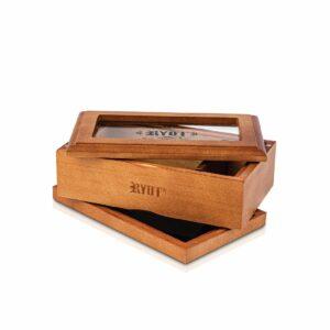RYOT – Glass Top Box Walnut 4×7″